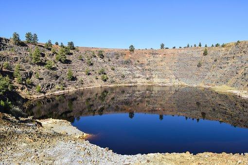 Acid Lake, Mine, Environment, Industry, Dangerous