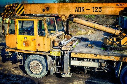 Truck, Crane, Auto Crane, Ddr, Adk 125, Raise, Autokran