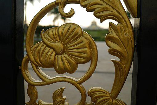 Decorative Detail, Golden, Ornamental, Decoration