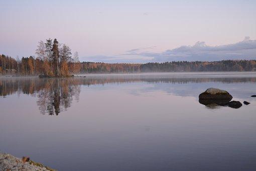 Lake, Autumn, Finnish, Fall Colors, Archipelago, Water