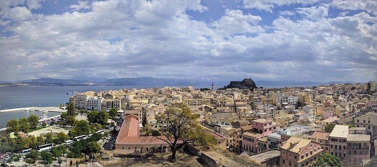 Corfu, Town, Kerkyra, Cityscape, Fortress, Old, Tourism