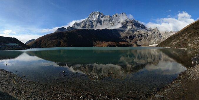Gokyo, Nepal, Lake, Mountain