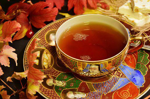 Tee, Tea Time, Teacup, Hot, Autumn, Autumn Colours