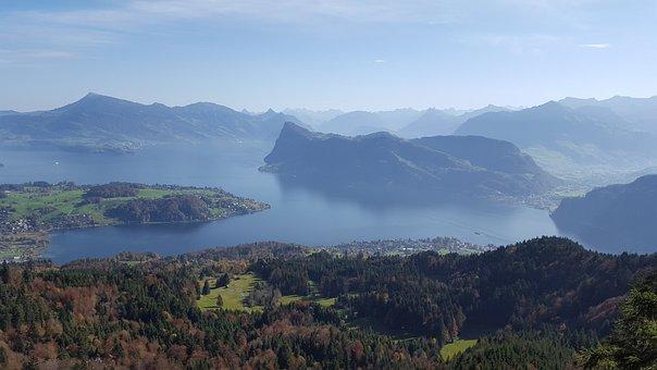 Lake Lucerne, Lucerne, Pilatus, Nature, Landscape