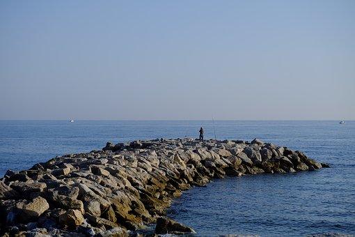 Man, Fishing, Sea, Fisherman, Nature, Water, Rod