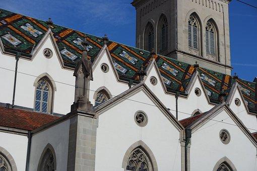 St Gallen, Old Town, St Laurenzen, Church, Historically