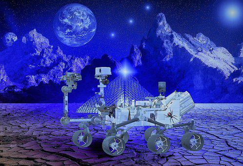 Robot, Planet, Science Fiction, Space, Globe