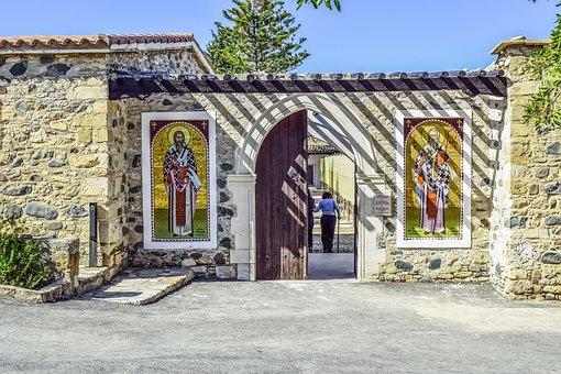 Cyprus, Politiko, Ayios Heraklideios, Church, Monastery