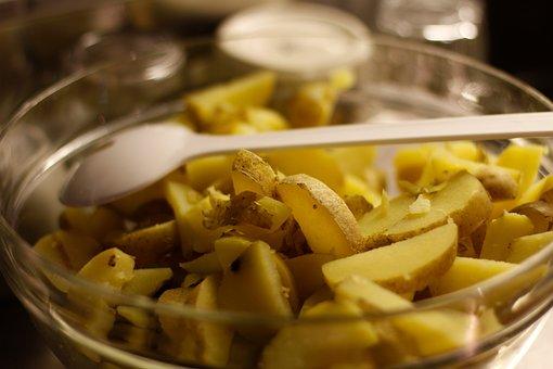 Potato, Potato Slices, Bowl, Shell, Food-photography