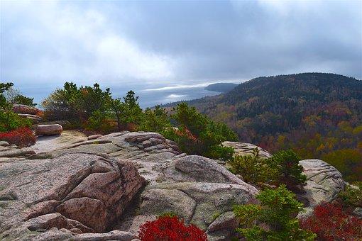 Mountain, Trees, Rocks, Nature, Landscape, Coast, Sky