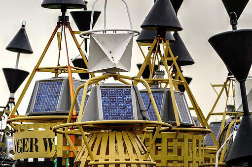 Buoy, Radar Reflector, Solar Cell, Setting Of Buoys