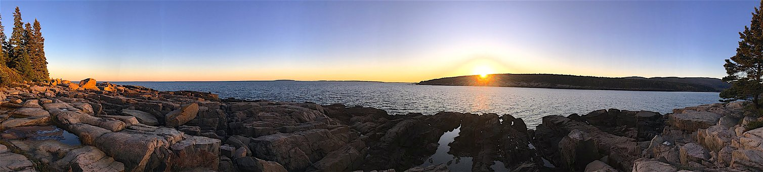 Sunset, Shore, Trees, Water, Sea, Ocean, Beach