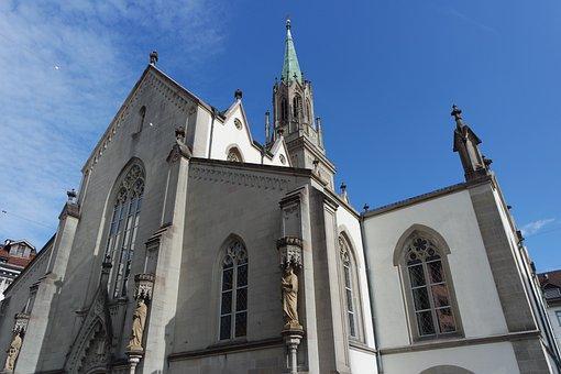 St Gallen, Old Town, St Laurenzen, Steeple