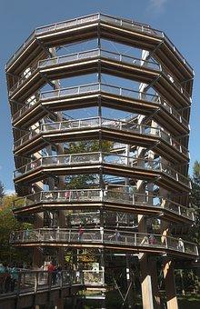 Observation Tower, Spiral, Treetop Path, Steigerwald