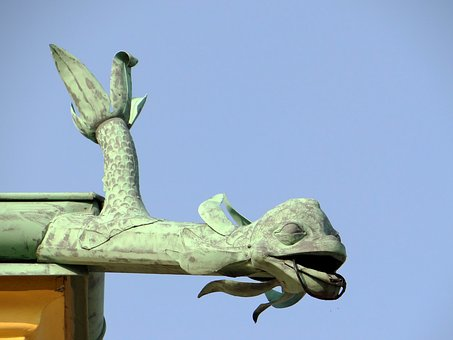Gargoyle, Wilanów, The Palace, The Roof Of The, Gutter