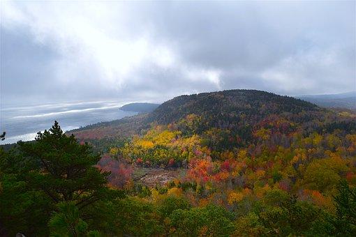 Mountain, Trees, Nature, Landscape, Coast, Sky, Clouds
