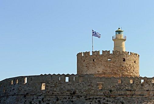 Agios Nikolaos Castle, Mandraki, Port, Rhodes, Greece