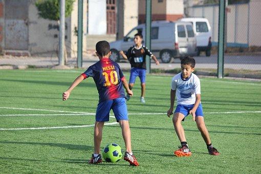 Football, Kids, Two Kids, Child, Soccer, Ball, Fun