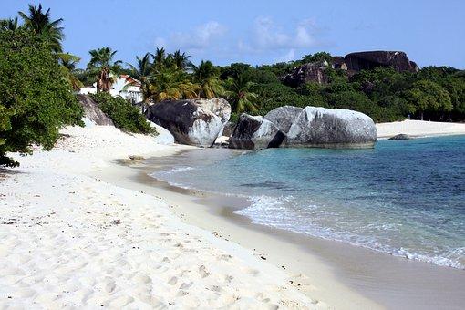 Beach, Caribbean, Sea, Palm Trees, Water, Sand