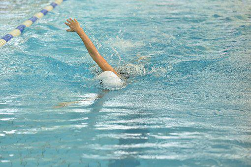 Breaststroke Swimming, Water In Hand, Competition
