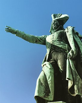 French, Father Franz, Leopold, Monument, Dessau, Bronze