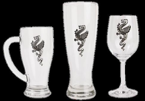 Glass, Bar, Empty Glass, Pub, Dragon, Transparent