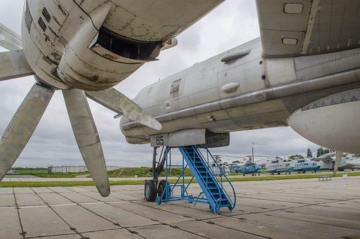 Plane, Engine, Turbine, Screw, Rakurs, Wing, Chassis