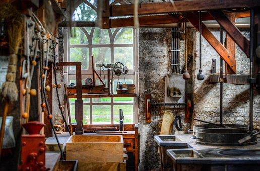 Mill, Workshop, Milling, Industry, Equipment