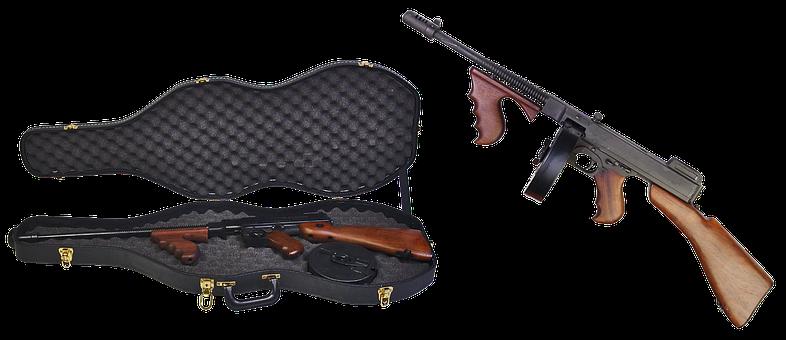 Thompson Submachine Gun, Case, Firearms, Automatic