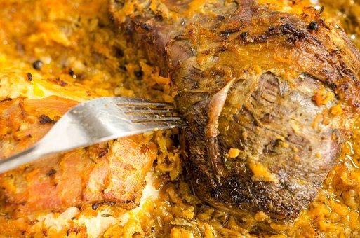 Fork, Taste, Beacon, Meat, Food, Background, Restaurant