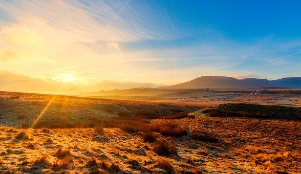 Yorkshire Dales, Golden Hour, Sunrise, Landscape