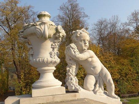 Putto, Sculpture, Copy, Redler, Monument, Rococo