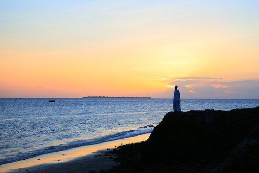 Sea, Zanzibar, Beach, Sunset, Water, Muslim, Islam
