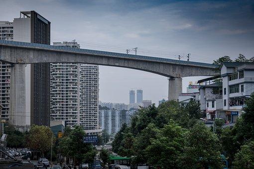 Guizhou, Guiyang, Overpass, High-speed Rail Tracks