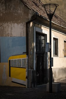 Street, Painting, Yellow, City, Urban, Cityscape