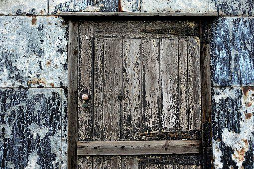 Door, Old, Texture, Patina, Peeling, Paint, Worn