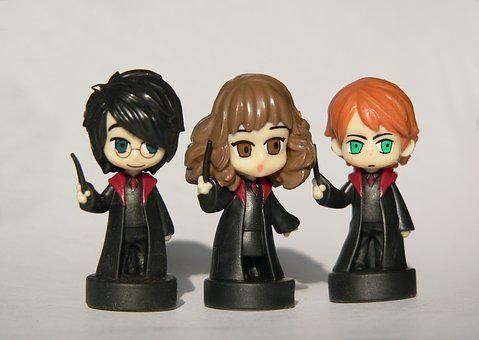 Harry Potter, Hermione, Ron, Fantasy, Books, Character