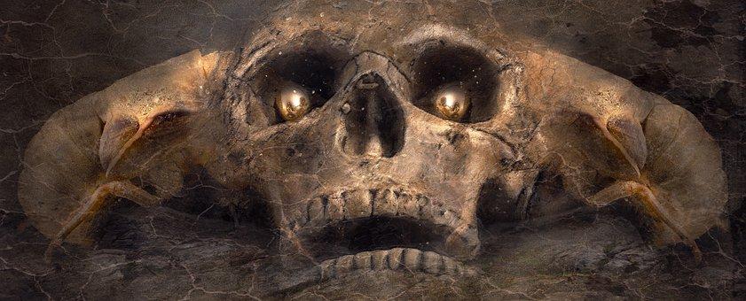 Fantasy, Skull And Crossbones, Creepy, Mystical, Skull