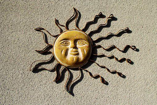 Sun Decoration, Sun Burst, Sun Emblem, Sol