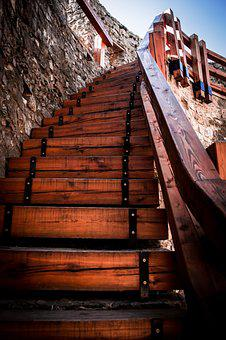 Stairway, Tower, Wood, Architecture, Staircase