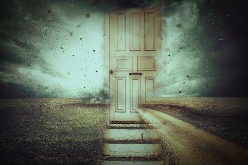 Fantasy, Storm, Surreal, Door, Landscape, Artfully