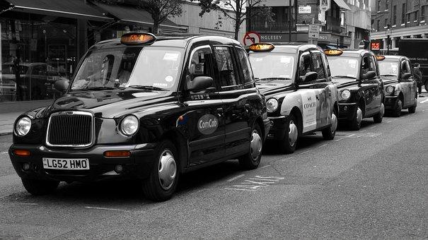 London, Covent Garden, Taxi, England