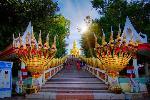 Pattaya, Travel, Thailand, Buddha, Golden, Temple