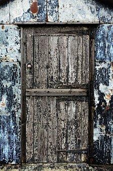 Door, Old, Texture, Patina, Peeling, Paint, Worn