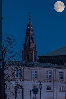 Copenhagen, Night Photography, The Full Moon