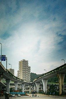 Guizhou, Guiyang, Overpass, Three Bridges
