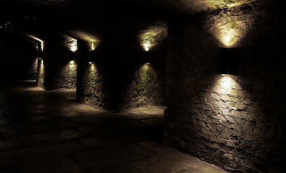 Architecture, Tunnel, Passage, Building, Keller, Wall