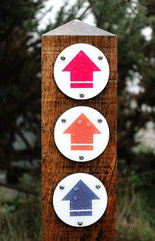 Waymark, Arrow, Way, Mark, Marker, Sign, Direction, Up
