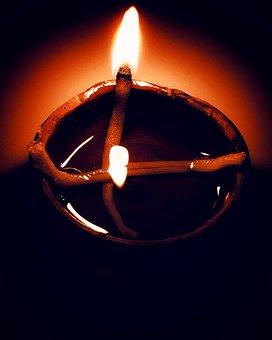 Hope Of Light, Iphonography, Diwali Diya, Black Hope