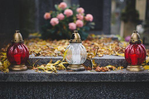 Cemetery, Candle, Candles, Tombstone, The Tomb Of